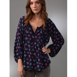 Rebecca Taylor Sweet Pea Silk Blouse XS 0 Shopbop